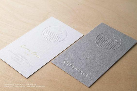 Embossed-business-card