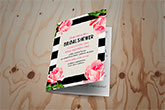 folded bridal shower invites