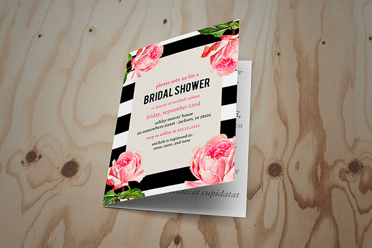 Folded Bridal Shower Invites