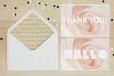 velvet thank you cards