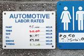 dry erase aluminum signs