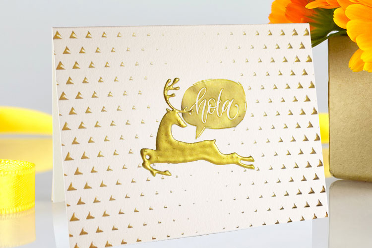 Raised Foil Greeting Cards