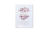 ultra thick metallic pearl invitations